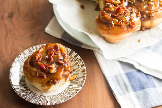 Maple-Bourbon Sticky Buns with Bacon | by Isabelle @ Crumb