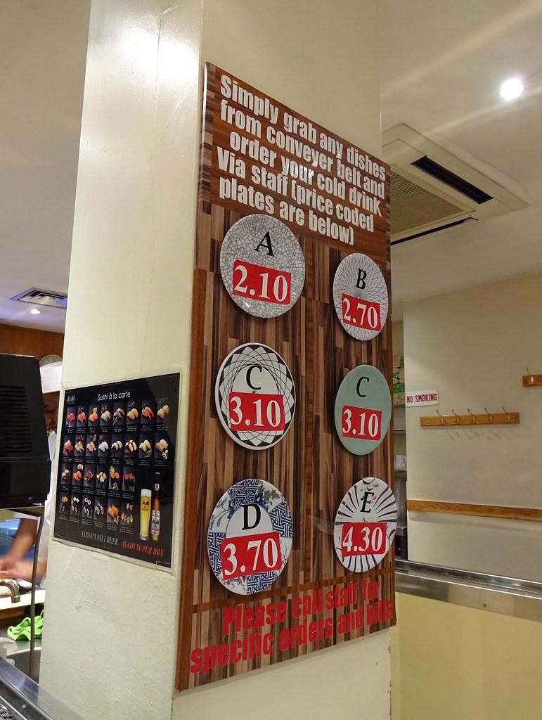 Conveyor belt prices (Sep 2018) at Kulu Kulu, Soho, London…   Flickr