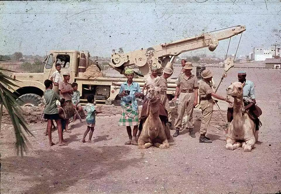 A photo album of the British people when they lived in the city of Aden