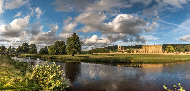 Chatsworth House and the River Derwent