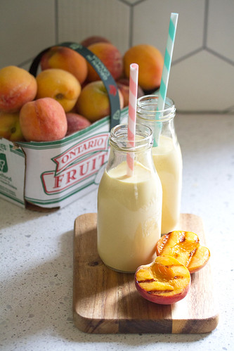 Grilled Peach Lassi | by Isabelle @ Crumb