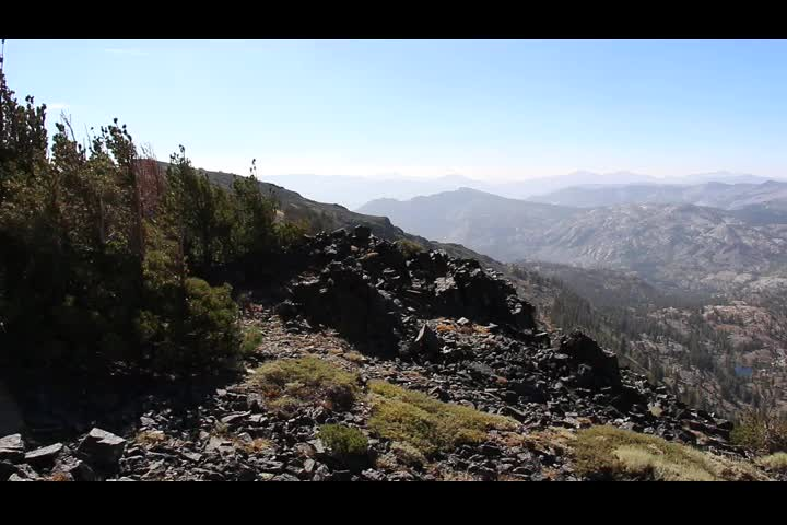 2357 Panorama video looking south from Dicks Pass on the Pacific Crest Trail