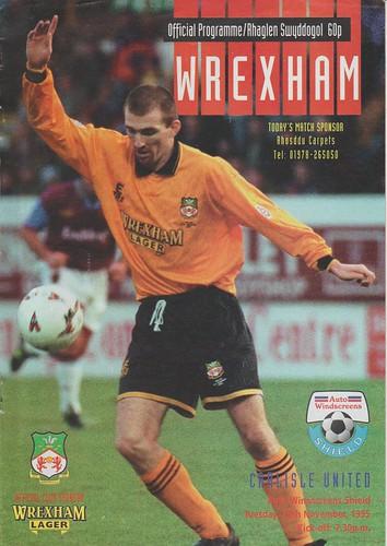 Wrexham V Carlisle 29-11-95 | by cumbriangroundhopper