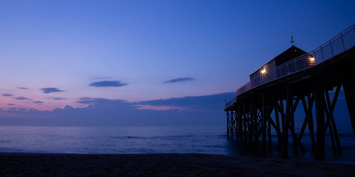 sunrise bluehour beach ocean belmar newjersey unitedstates us