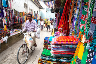 Fabric market. Stone Town | by Laura Jacobsen
