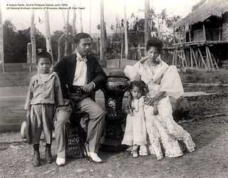 A Visayan family, Central Philippine Islands, early 1900s