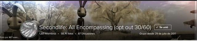 """Thank you very much to the Group """"Secondlife: All Encompassing"""" for its part of the cover with my photo. ♥"""
