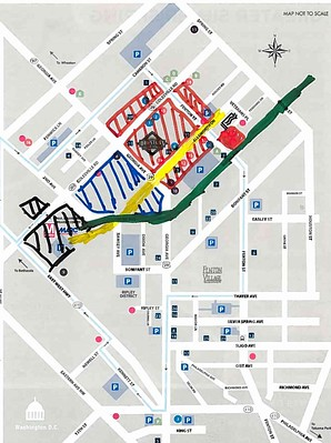 Map, Downtown Silver Spring