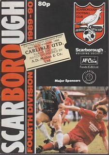 Scarborough V Carlisle United 21-10-89   by cumbriangroundhopper