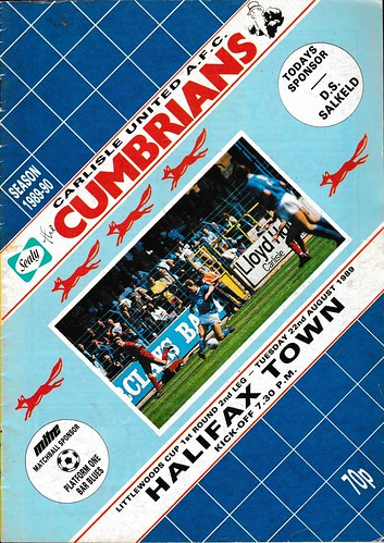Carlisle United V Halifax Town 22-8-89 | by cumbriangroundhopper