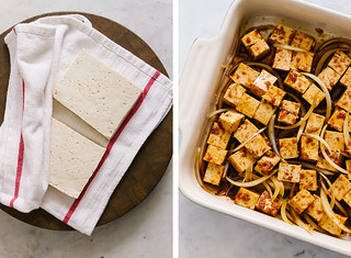 Tofu Poke Bowl: tofu prep   by Julie West   The Simple Veganista