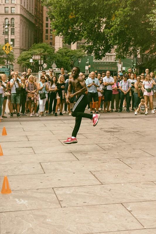 Happy Street Performer
