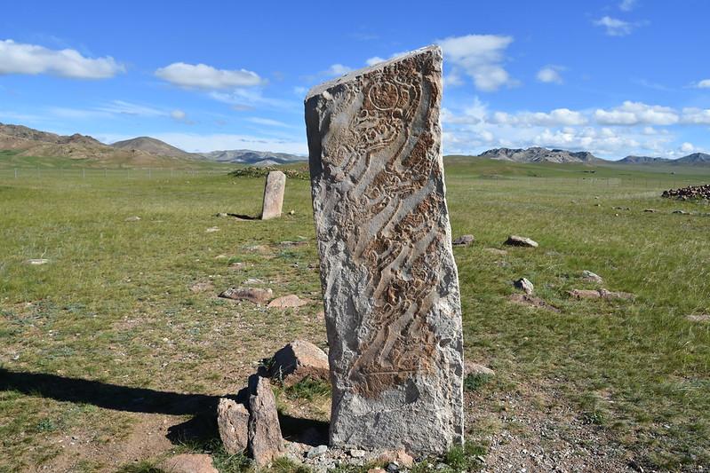 Deer stone, Bronze Age; Uushigiin Uveer, near Moron, northern Mongolia (14)