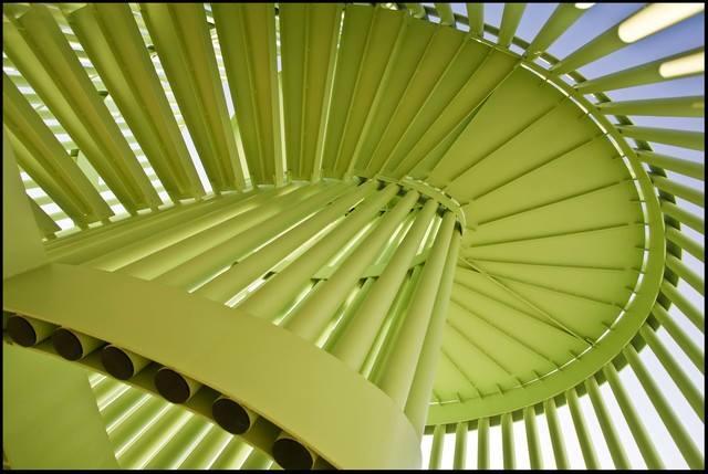 Scala metallica presso la Ludoteca di Pianoro (BO) - metal staircase near Bologna Italy #architecture #engineering #construction #schoolbuilding #architettura #architetturaitaliana #ingegneria #archilovers #archdaily #design #architetturamoderna