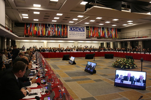 George Tsereteli addresses the OSCE ODIHR HDIM in Warsaw, 10 Sept. 2018 | by oscepa