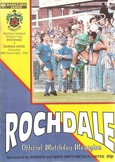 Rochdale V Carlisle United 24-11-90 | by cumbriangroundhopper