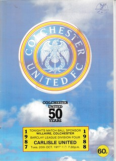 Colchester United V Carlisle United 20-10-87 | by cumbriangroundhopper
