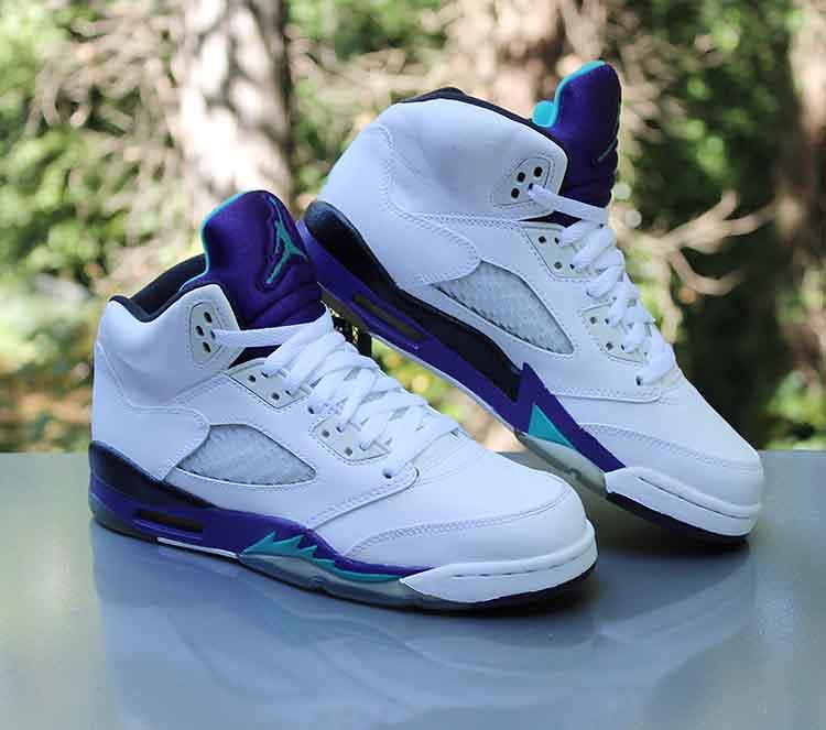 check out 7a3d1 e620c Nike Air Jordan 5 Retro GS 'Grape' 2013 White 440888-108 S ...