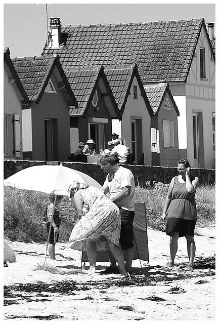 Scène de plage, l'installation 2, Normandie.