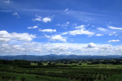farm sky bluesky cloud clouds green blue landscape 岩手県 紫波町 紫波農園