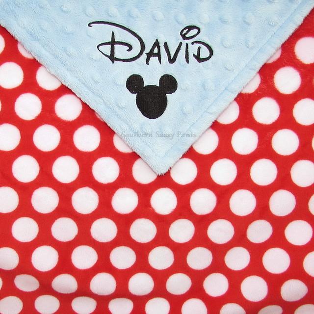 Personalized Mouse Ears Boy Blanket