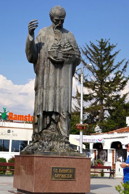 Statue of St. Kliment Ohridski, Ohrid