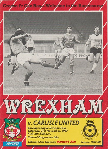 Wrexham V Carlisle United 21-11-87 | by cumbriangroundhopper