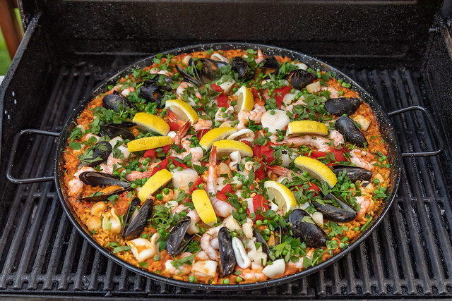 My First Grilled Paella