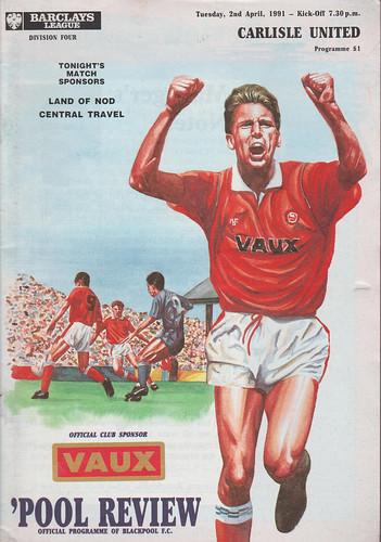 Blackpool V Carlisle United 2-4-91 | by cumbriangroundhopper