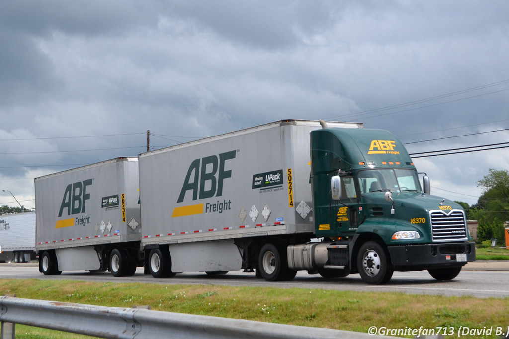 ... ABF Freight Mack CXU612 with Doubles | by Trucks, Buses, & Trains by granitefan713