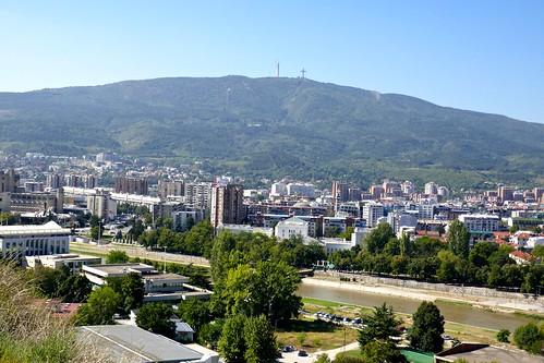 skopje macedonia cityscape aerialview rivers vardarriver