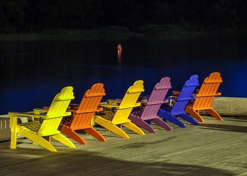 maine hallowell river kennebec chairs adirondack night