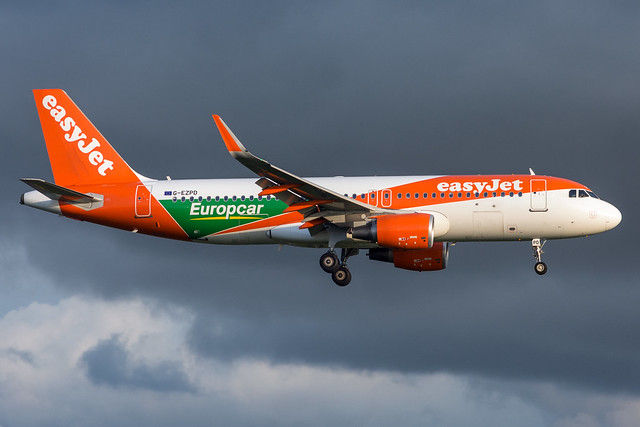 G-EZPD easyJet Airbus A320-200S Amsterdam Schiphol
