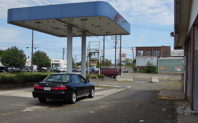While driving from New York up to Connecticut, my car became a little low on gas. I pulled into this station, but the service was glacially slow, nonexistent actually. There was not a single gas pump.... very strange! West Haven, Connecticut. Sept 2018