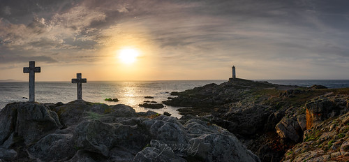 ngc landscape faro sunset lighthouse coast galicia nikond7000 nikon tokina1224 panoramic panoramica spain atardecer