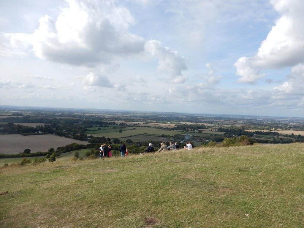 Enjoying the view (not us) Princes Risborough to Wendover