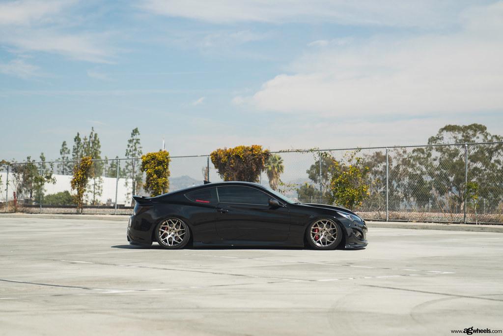Hyunda Genesis Coupe   Avant Garde Wheels F411 Brushed Black Nickel