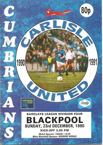 Carlisle United V Blackpool 23-12-90 | by cumbriangroundhopper