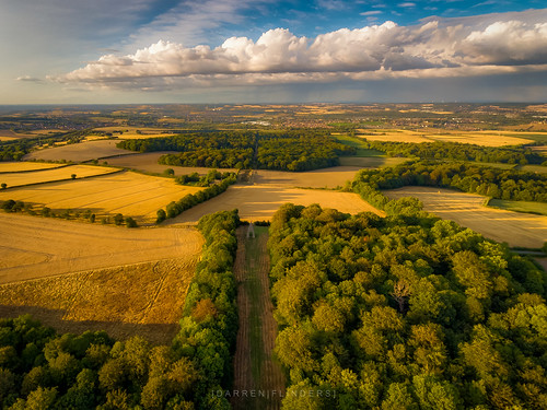 rotherham england unitedkingdom gb needleseye monument clouds cloudporn storm drone dronephotography djiphantom4 hdr photomatix stormclouds summer goldenhour trees fields countryside rotherhamdistrict