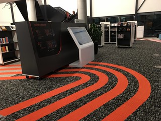 Race track inspired interior ~ Oran Park Library