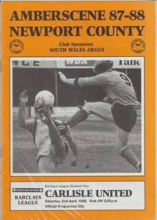 Newport County V Carlisle United 2-4-88   by cumbriangroundhopper