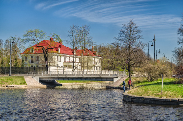 The former cottage of Soloveychik on the Kamenny Island.