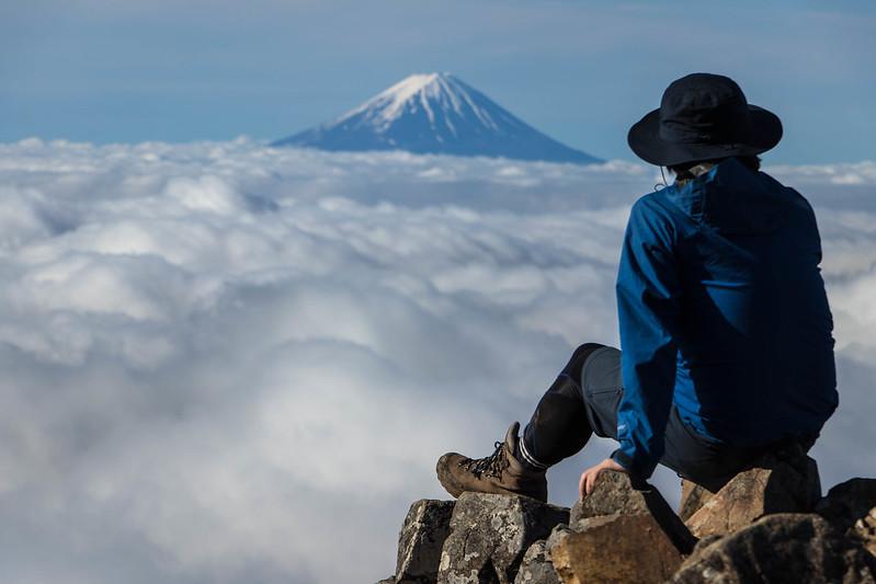 甲武信岳から富士山
