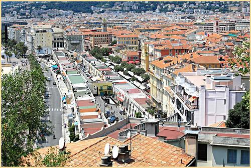 claudelina france alpesmaritimes provencealpescôtedazur nice ville town vue view paysage landscape cityscape courssaleya