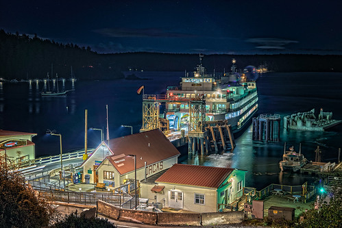 ocean ferry orcasisland orcas island washington state transportation art color place landscape water night wadot