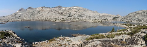 0325 Panorama and reflections on Lake Aloha of the Crystal Range with Pyramid Peak and Mount Price | by _JFR_