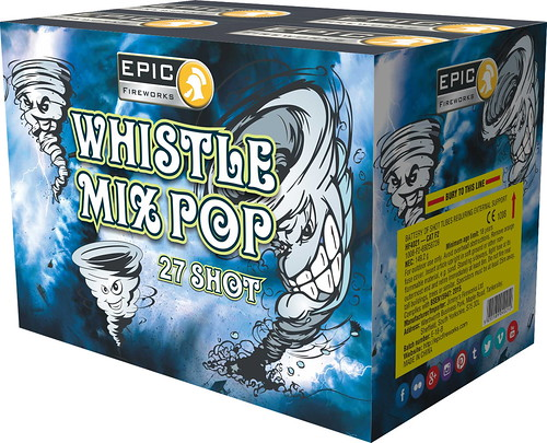 WHISTLE MIX POP 27 SHOT FIREWORK CAKE