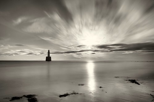 rattrayhead lighthouse aberdeenshire scotland longexposure landscape monochrome blackandwhite sea ocean sunrise sunset water canon canon6d leefilter littlestopper