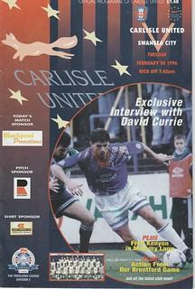 Carlisle V Swansea 20-2-96 | by cumbriangroundhopper