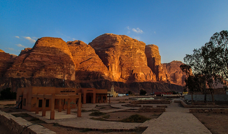 16 - Jebel um Ejil in sunset from Wadi Rum